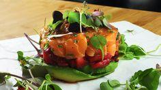 Tartare de saumon à la tidi Saveur, Sushi, Ethnic Recipes, Food, Salmon Tartare, Dish, Recipes, Meals