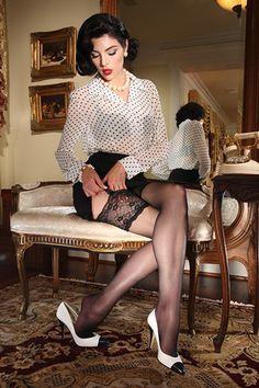 Curvy Leg Salon - Eden Lace Top Stocking