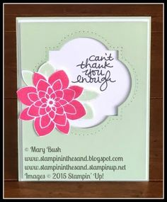 Stampin Up Crazy About you stamp set window card