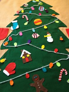 Giant Felt Christmas Tree by ZuppityDoDah on Etsy. , via Etsy.