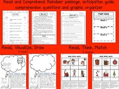 December Literacy Centers for First AND Second Grade (FREEBIE too) Reading Centers, Literacy Centers, Second Grade Freebies, Christmas Language Arts, Library Center, Holidays Around The World, Elementary Library, Teaching Time, Comprehension Questions