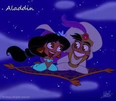 Walt Disney Characters Fan Art: Aladdin and Jasmine Chibi Walt Disney Characters, Film Disney, Disney Movies, Disney Princes, Movie Characters, Disney E Dreamworks, Chibi Disney, Disney Fan Art, Walt Disney Animation