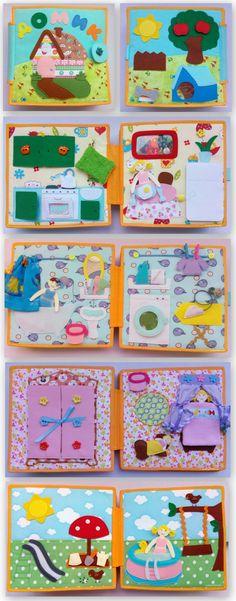 Книжка домик, Развивающая книга, Мягкая книга Playhouse, Girl, Dollhouse, Doll, Travel