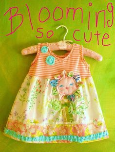 I'm Blooming So Cute Spring Dress with 3D Flower by YelliKelli, $65.00