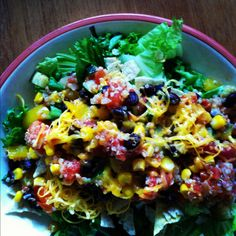 Vegetarian Quinoa Taco Salad. Yum!