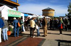 NM: Sante Fe, NM - Railyard District is an indoor/outdoor farmers' market, an urban park and hip restaurants, galleries and indie shops.