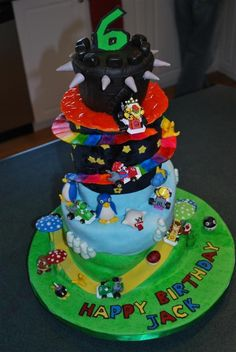 Too Sweeties Bake Shoppe Bowsers Castle Mario Kart Birthday - Bowser birthday cake