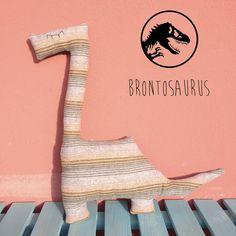 Fabric Dinosaurs Tyrannosaurus rex Brontosaurus by TaPetite