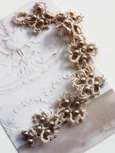 Bracelet romantique en frivolite pour les par MJsflowerfield