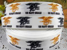 US Navy Seals 1 printed grosgrain ribbon for Hairbow by fancypaper, $1.25 Military Ribbons, Us Navy Seals, Grosgrain Ribbon, Hair Bows, Arts And Crafts, Craft Ideas, Printed, Diy Ideas, Art And Craft