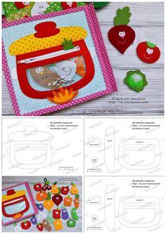 Diy Quiet Books, Baby Quiet Book, Felt Quiet Books, Toddler Learning Activities, Craft Activities For Kids, Baby Crafts, Felt Crafts, Quilt Book, Silent Book