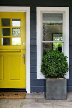 sunny yellow dutch doors: Garden Studio Designs has a real eye for color and design.     Decor Ideas   Home Design Ideas, DIY, Interior Design