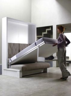Murphy bed with seating underneath