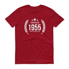 Men's Vintage 1955 Aged to perfection T-shirt - 1955 birthday gift ideas - 62 Birthday