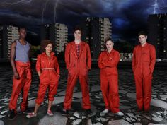 Misfits - it's like heroes but full of british humor.. pretty awesome show!