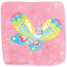 Butterfly © Gina Maldonado 2016 cocogigidesign.com