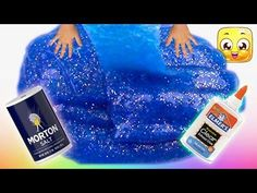 How To Make Slime with Glue, Water and Salt only! GIANT slime without borax or liquid starch! Easy! - YouTube