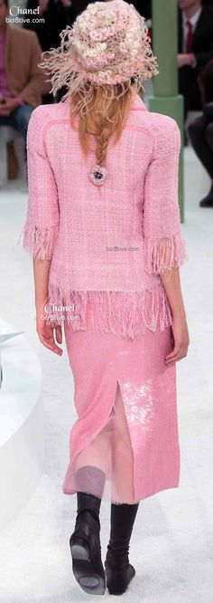 1 of my favorites - Love the Pink, the Fringe & Pencil Skirt - the little hair ties too -