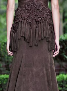 Wow! Love the details: knotting and tassels!  would probably have a lighter material underneath for a pencil skirt... or would love it as a top with leather trousers! Absolutely gorgeous!   hautekills:  Givenchy haute couture f/w 2012