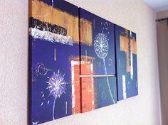 YAY' peintures abstraites Deco, Collages, Abstract Paintings, Art Paintings, Art Deco, Collagen, Decoration, Deko, Decor