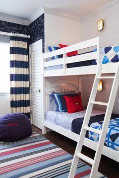 nautical bunk room | Brittney Nielsen Interior Design