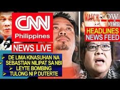 CNN BALITAAN: DE LIMA KINASUHAN NA! DUTERTE NEWS UPDATE | DECEMBER 29, 2016 - WATCH VIDEO HERE -> http://dutertenewstoday.com/cnn-balitaan-de-lima-kinasuhan-na-duterte-news-update-december-29-2016/   Welcome to my channel.  You are in a 'one-stop-news-channel'! NEWS TV is a place where you can find news updates and latest trends in the Philippines. We grab the best stuffs and reupload here.  What's new in politics, entertainment, culture, lifestyle, and Duterte