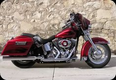 heritage softail classic with hard bags   Click the image to open in full size.