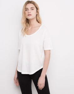 Pull & Bear 6 € :T-SHIRT BASIC MANCHES COURTES