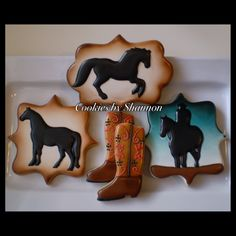 For the cowboy in your life. Horse silhouette www.facebook.com/cookies.by.shannon (If you use my designs please give me credit.)