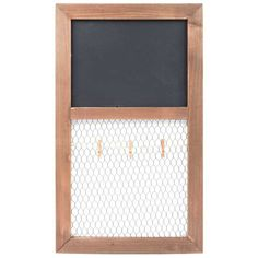 Chalkboard & Chicken Wire Organizer