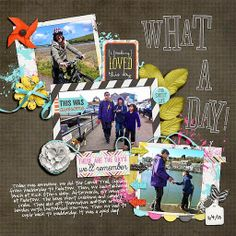what a day New in the Shoppe   Days Like These Digital Scrapbooking Kit by Traci Reed and Meghan Mullens
