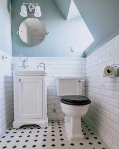 Tvättställsskåp Burlington 51 cm - vit/porslin/dörr - Sekelskifte - Lilly is Love Bathroom Inspo, Bathroom Styling, Bathroom Wall, Bathroom Interior, Small Bathroom Inspiration, Classic Bathroom, Modern Bathroom, Small Bathrooms, 12x24 Tile Patterns