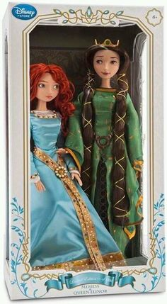 "RARE Disney Store Brave Merida Queen Ellinor Set 17"" Limited Edition Dolls 