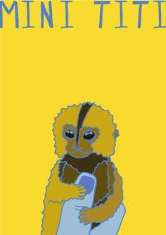 My Illustration Blog AnimalesDelMundo AnimalesDelMundoEcuador Ecuador animales animals illustration ilustración Mini Titi Mono Miny Monkey Ecuador, Scooby Doo, Illustration, Blog, Fictional Characters, Art, Playsuit, Animales, Art Background