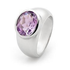 Wendy Manzo Jewellery. A rose coloured amethyst bezel set in my favourite domed band.