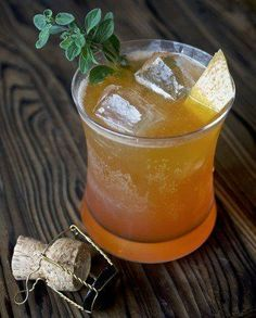 This beer cocktail from Los Angeles bartender Karen Grill balances the bitter notes of the Italian aperitif Aperol with tart citrus, honey, and a pleasant herbal flavor . #beercocktails