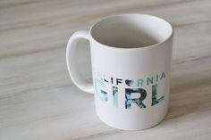 California Girl // 11 oz. Ceramic Mug by thegirlkyle on Etsy