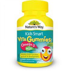 Nature's Way Kids Smart Vita Gummies Multi + Ome ga-3 50 Pastilles