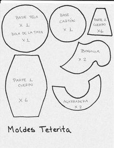 Resultado de imagen para MOLDES PARA HACER TETERA DE TELA