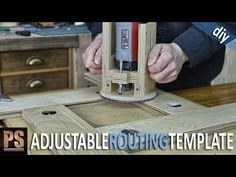 Homemade Adjustable Routing Template - YouTube