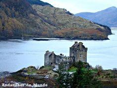 Vista panorâmica Castelo Eilean Donan Escócia Ilha de Skye