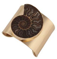 Ammonite Cuff Charles Albert #charlesalbert #jewelry #fossil