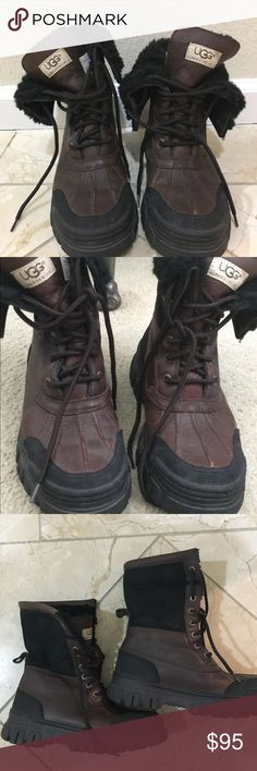 Ugg adirondack brown boots size 7 EUC Gorgeous ugg adirondack boots in very good condition 😊 bought many years ago for a vacation to the snow - but sadly haven't worn since. It's time for them to go to someone who will get some use out of these beauties! UGG Shoes Winter & Rain Boots