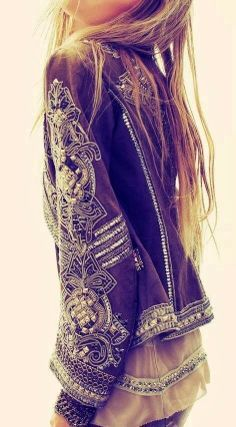 Heavily beaded and embroidered jacket