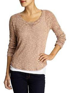 Melange loose knit sweater