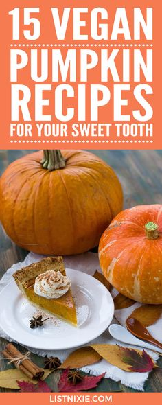 15 vegan pumpkin recipes for your sweet tooth - List Nixie Vegan Pumpkin, Pumpkin Recipes, Fall Recipes, Healthy Dessert Recipes, Brunch Recipes, Healthy Snacks, Healthy Eating, Vegan Vegetarian, Vegetarian Recipes