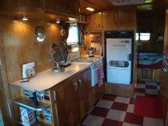 Vintage camper travel trailer caravan