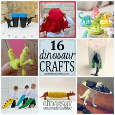 16 Fun Dinosaur Crafts!