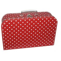 Koffertje Stippen Rood | Saynomorewebshop.nl