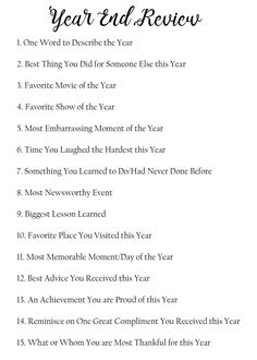 I have created a list of 15 questions to help you reflect on this past year. You can use these questions for personal reflection. I like to write down my answers, so I can look back at them for… Kids New Years Eve, New Years Eve Games, New Years Party, New Year Goals, New Year New Me, New Year Poem, New Year Scripture, Nouvel An Citation, New Year's Eve Activities